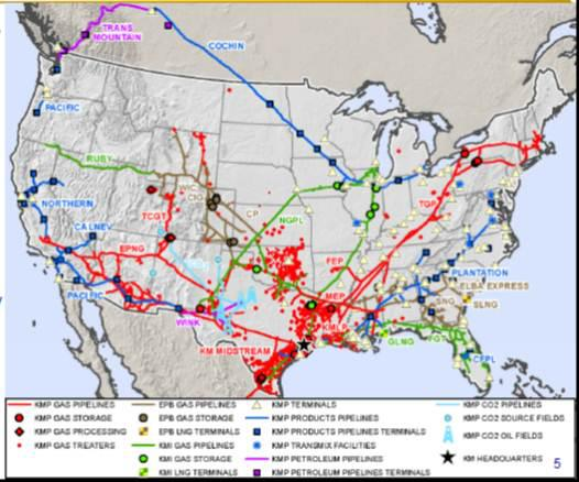 United States Natural Gas Pipeline Map