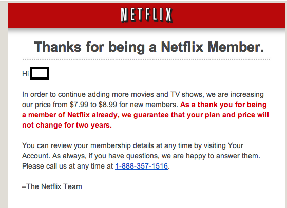 netflix price increase  a repeat of 2014  not 2011