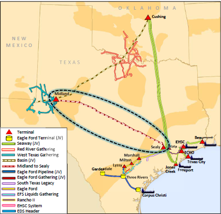 Image Result For Enterprise Midland To Sealy Pipeline Map