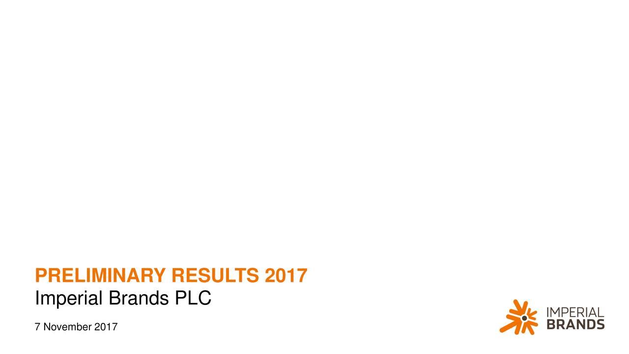 Imperial Brands PLC 7 November 2017