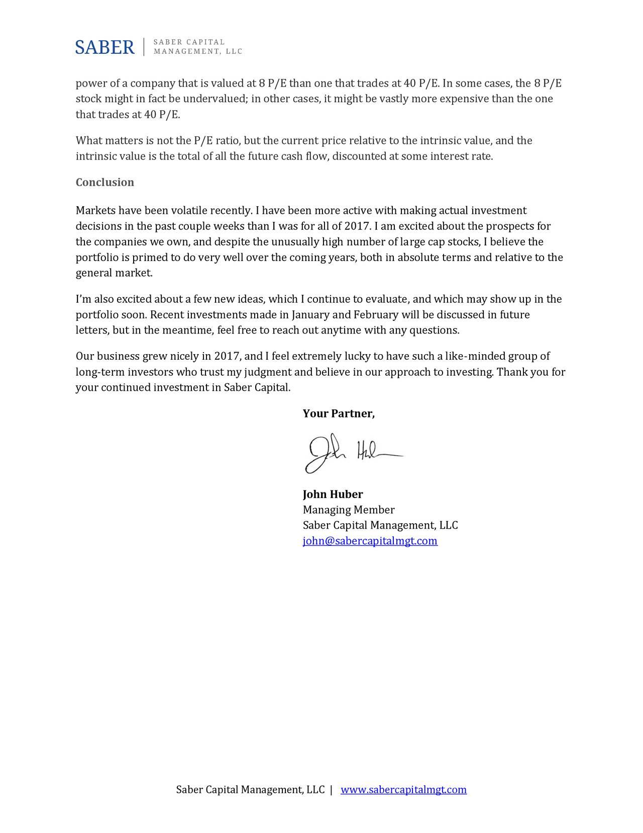 saber capital management letter to investors 2017 review apple