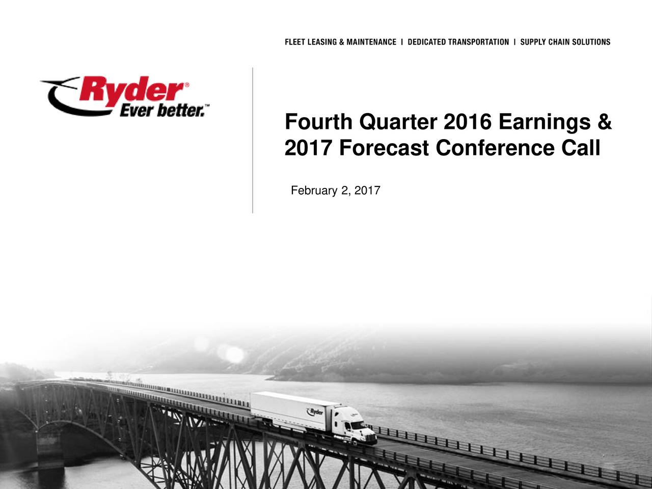2017 Forecast Conference Call February 2, 2017 All Rights Reserved.Inc.