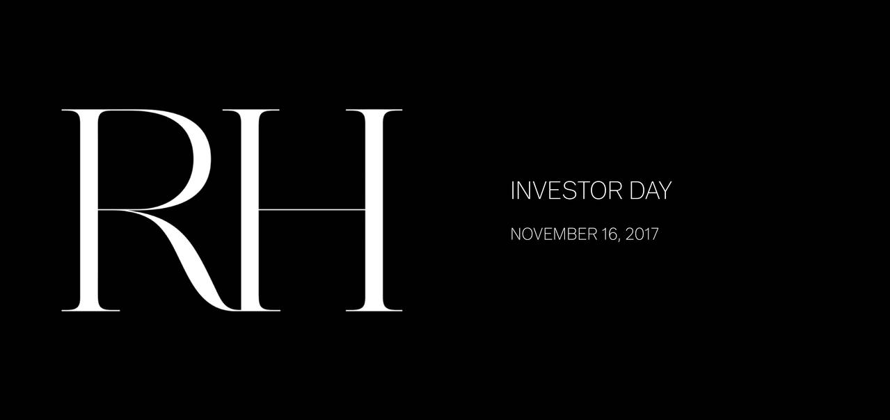Rh Rh Investor Presentation  Slideshow  Rh NyseRh  Seeking Alpha