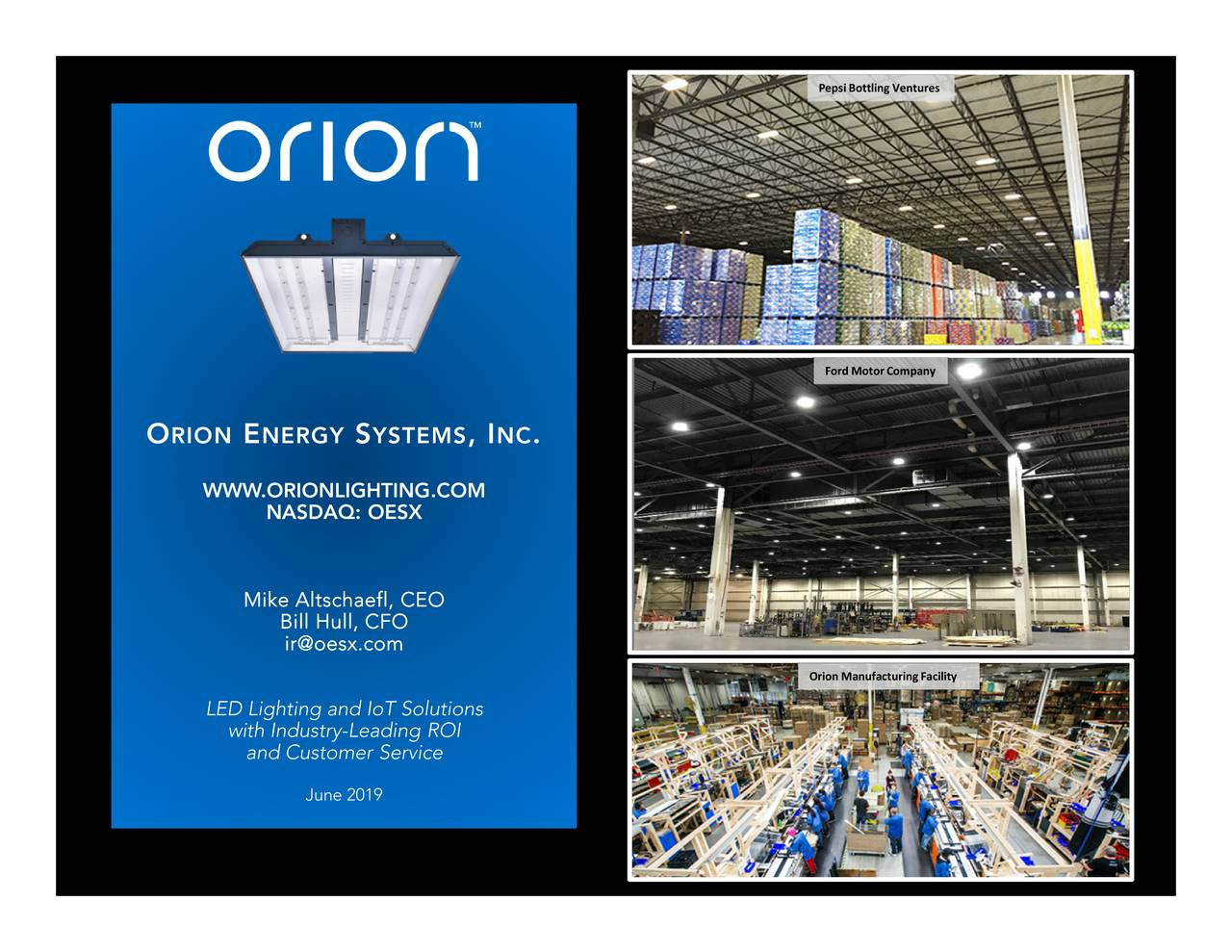 Orion Energy Systems (OESX) Presents At LD Micro Invitational Conference - Slideshow