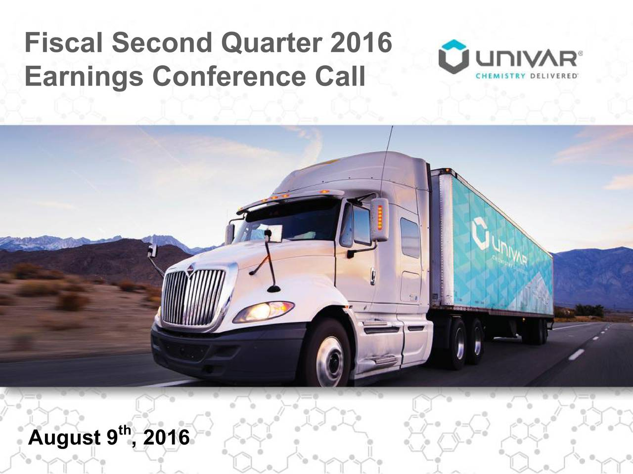 Earnings Conference Call th August 9 , 2016