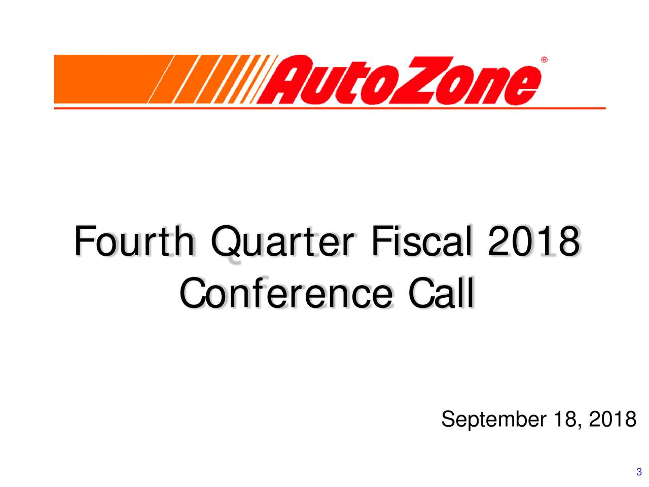 Conference Call September 18, 2018