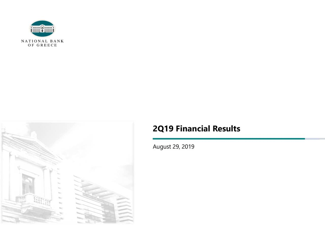 National Bank of Greece S.A. 2019 Q2 - Results - Earnings Call Slides