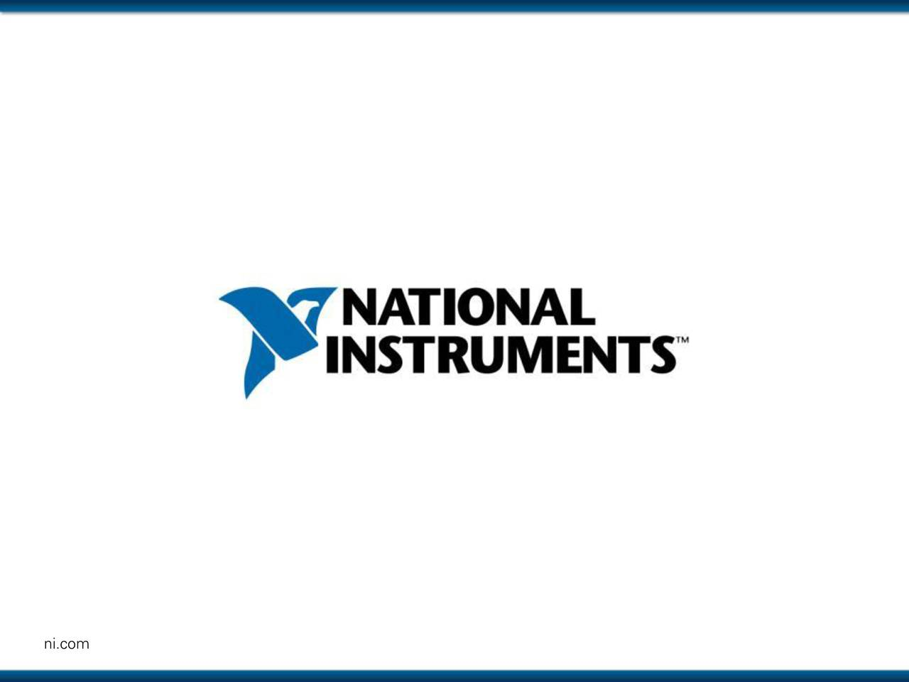 dfdfad57 National Instruments Corporation 2016 Q3 - Results - Earnings Call Slides