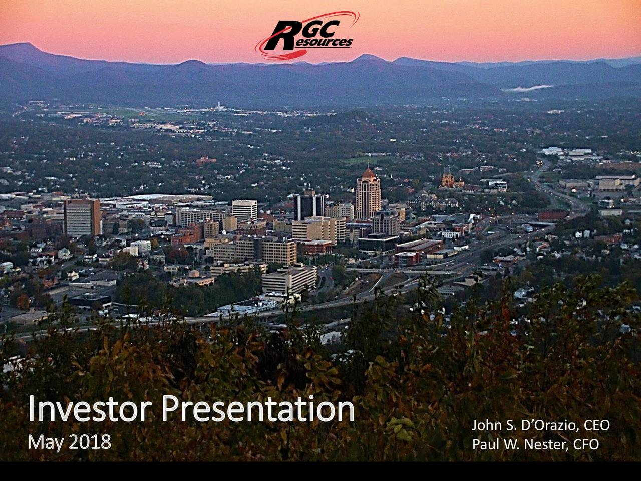 RGC Resources (RGCO) Presents At American Gas Association