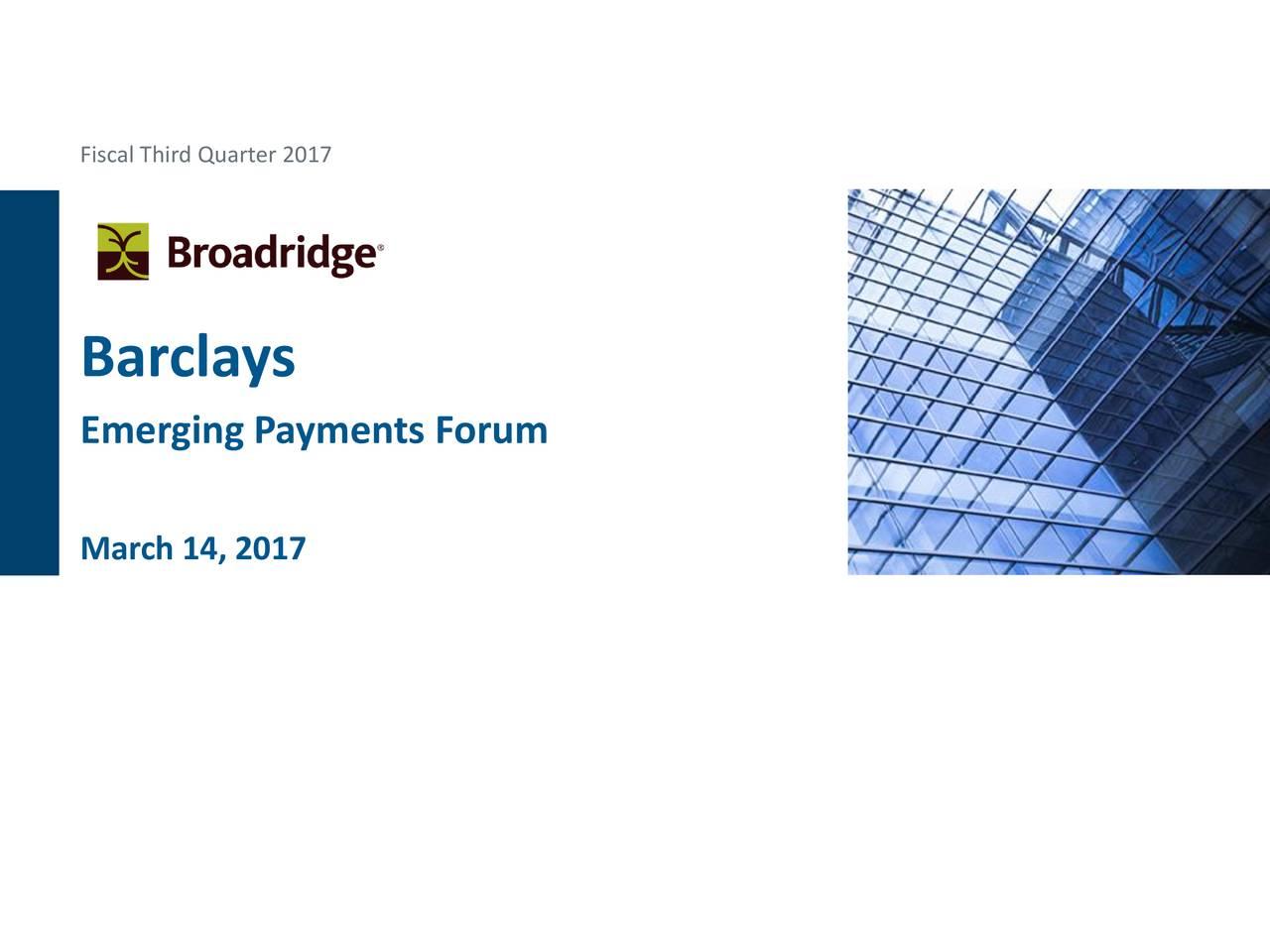 Broadridge Financial Solutions (BR) Presents At Barclays Capital ... a71df8dc2e4