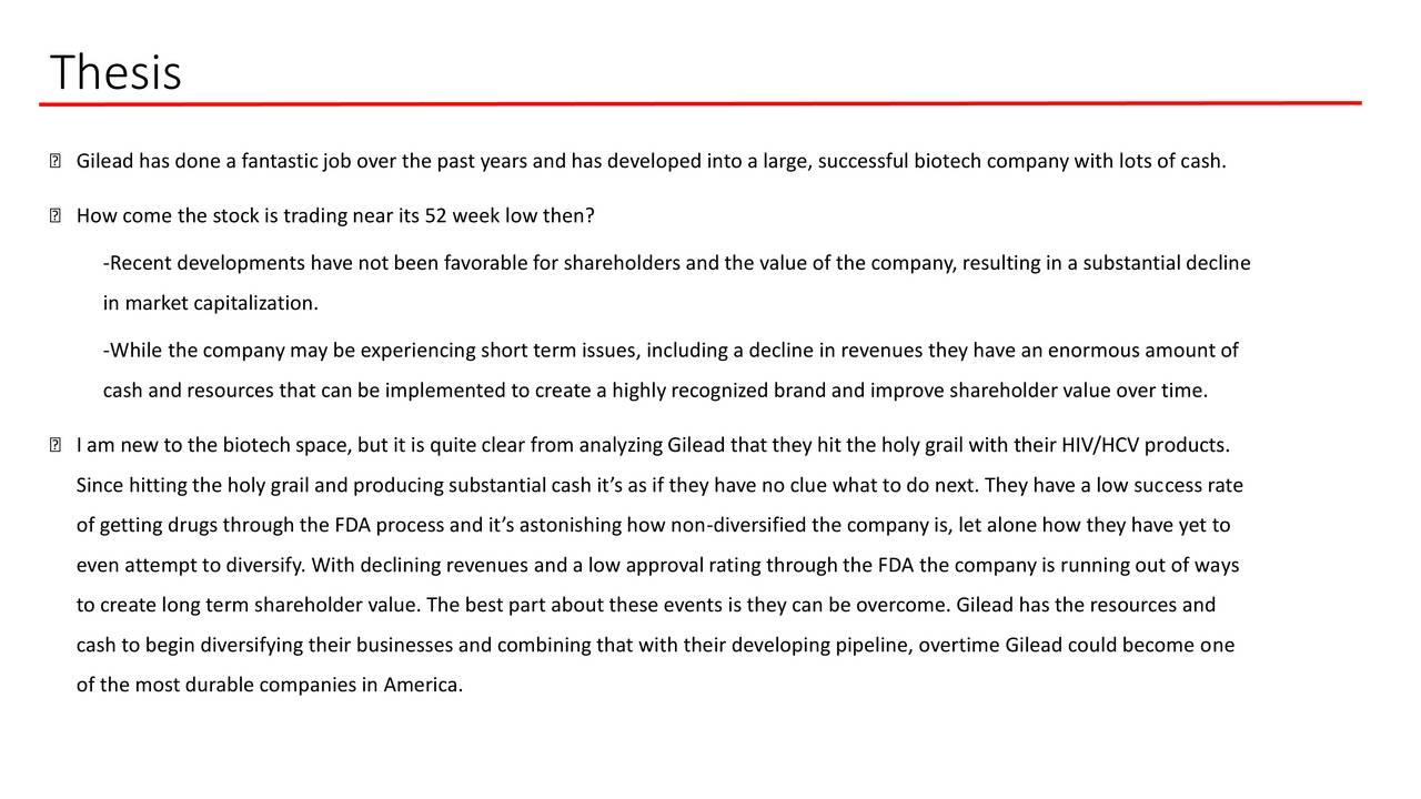 Gild Stock Quote Gilead Sciences A Long Term Buy  Gilead Sciences Incnasdaq