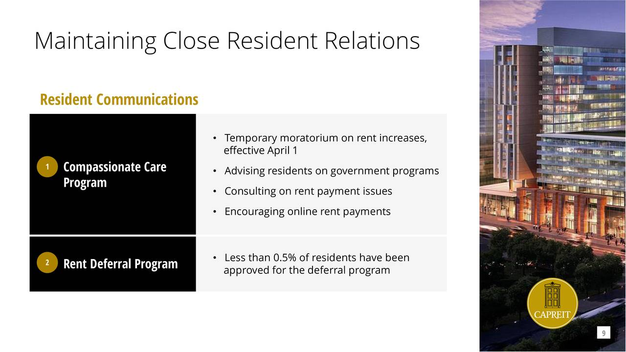 Mantener relaciones cercanas con los residentes