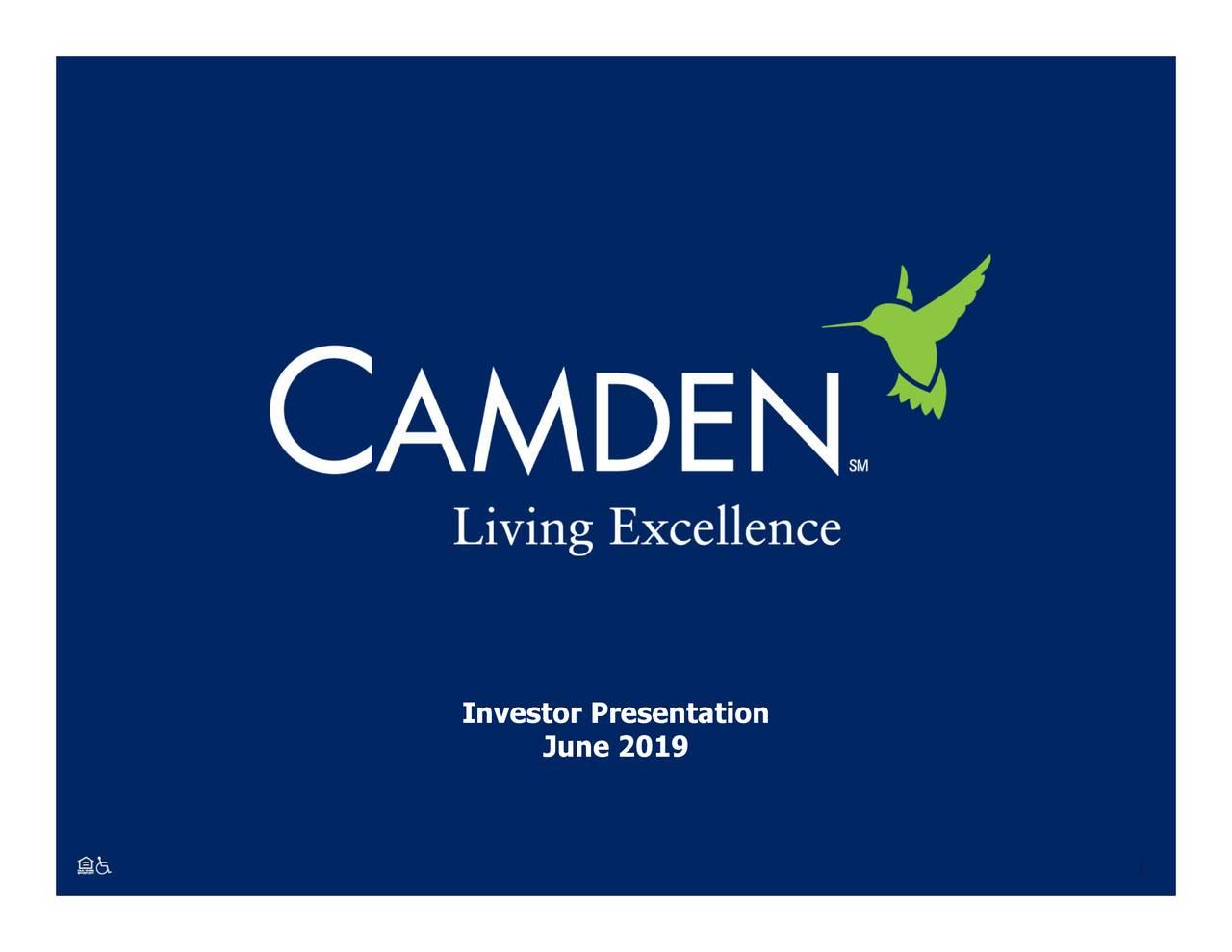 Camden Property Trust (CPT) Investor Presentation - Slideshow