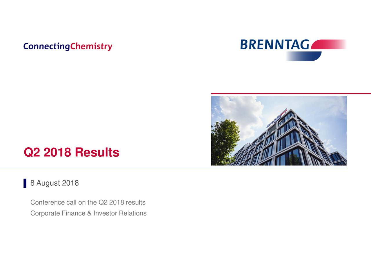 Brenntag AG ADR 2018 Q2 - Results - Earnings Call Slides