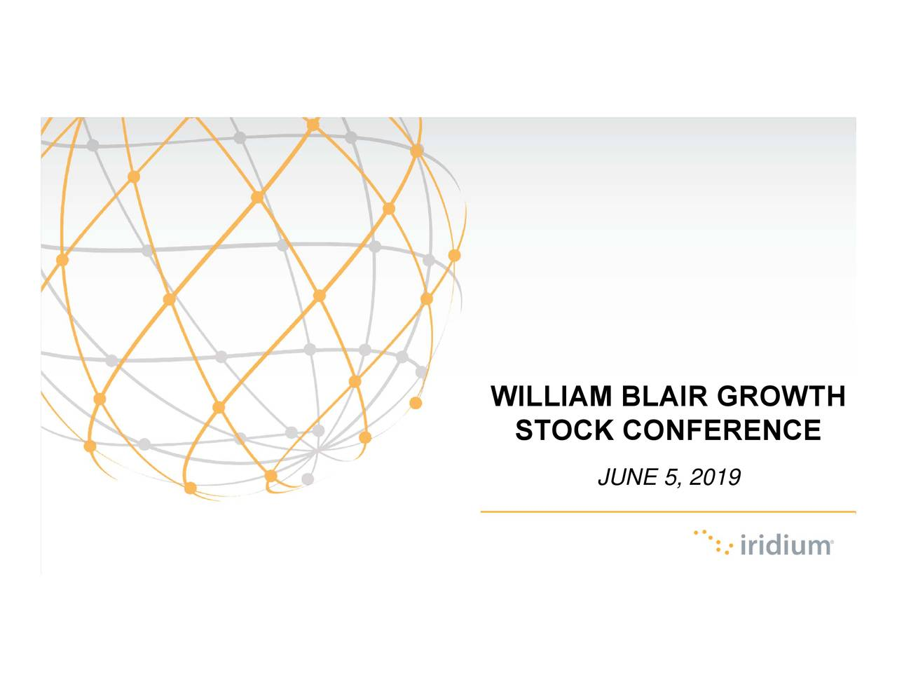 STOCK CONFERENCE WILLIAM BLAIR GROWTH