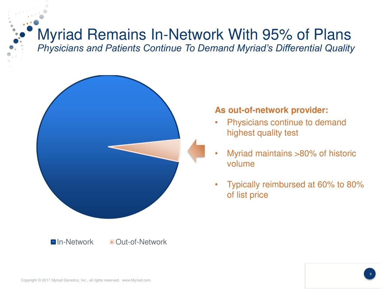 Myriad Genetics Inc 2017 Q2 Results Earnings Call Slides