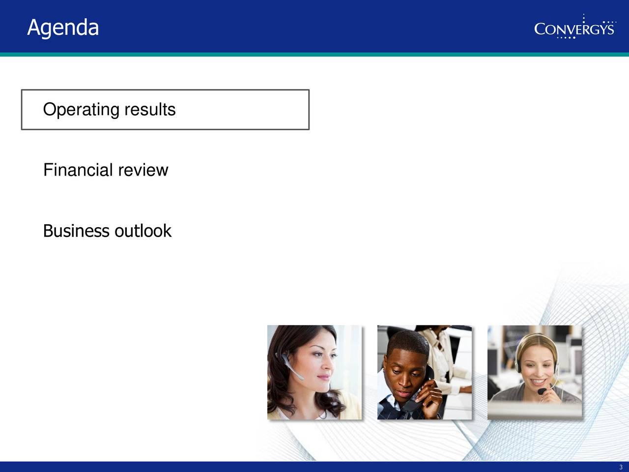 Operating results Financial review Business outlook