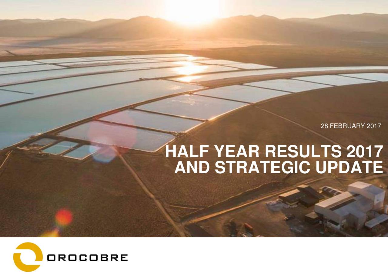 HALF YEAR RESULTS 2017 AND STRATEGIC UPDATE 1