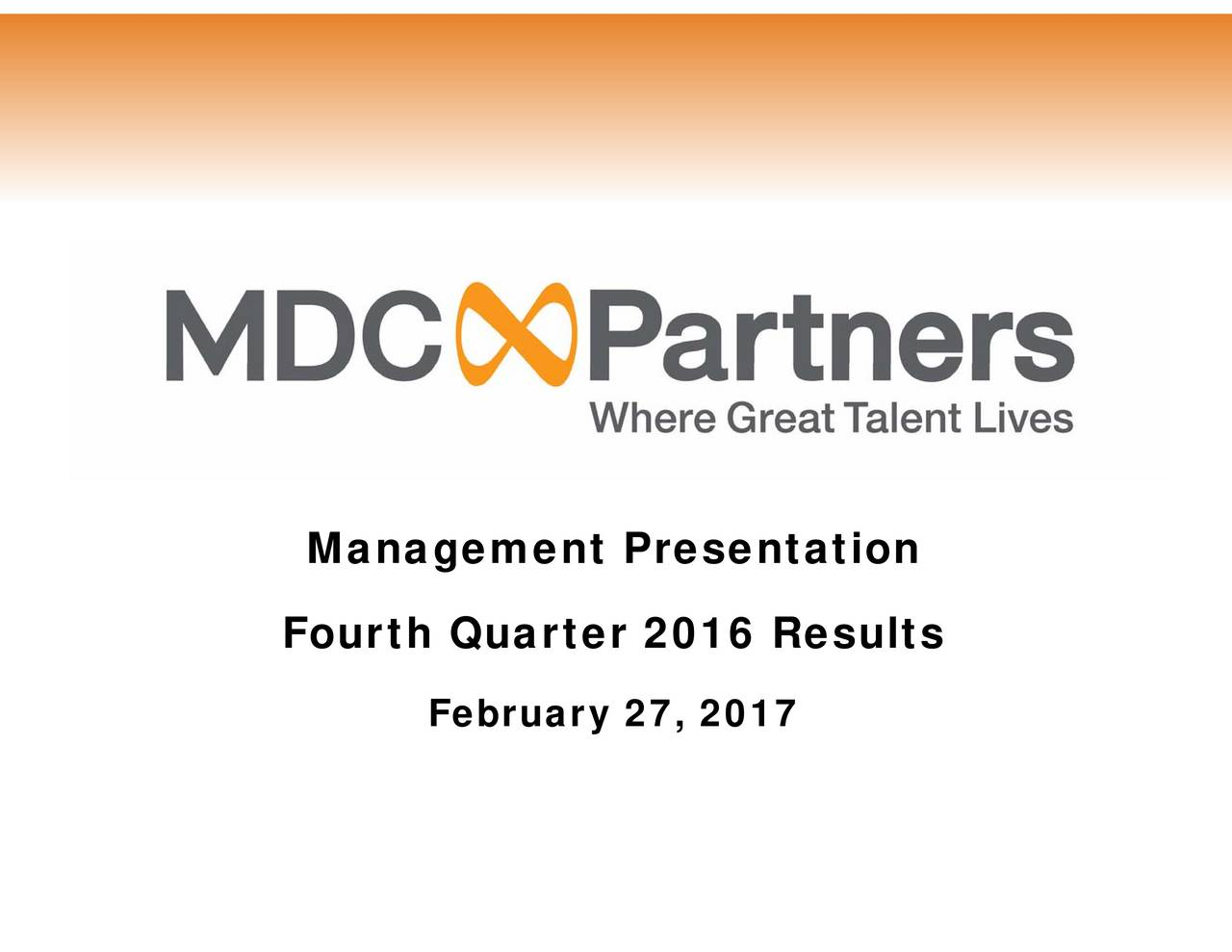 ManaFourth Quarter 2016 Results