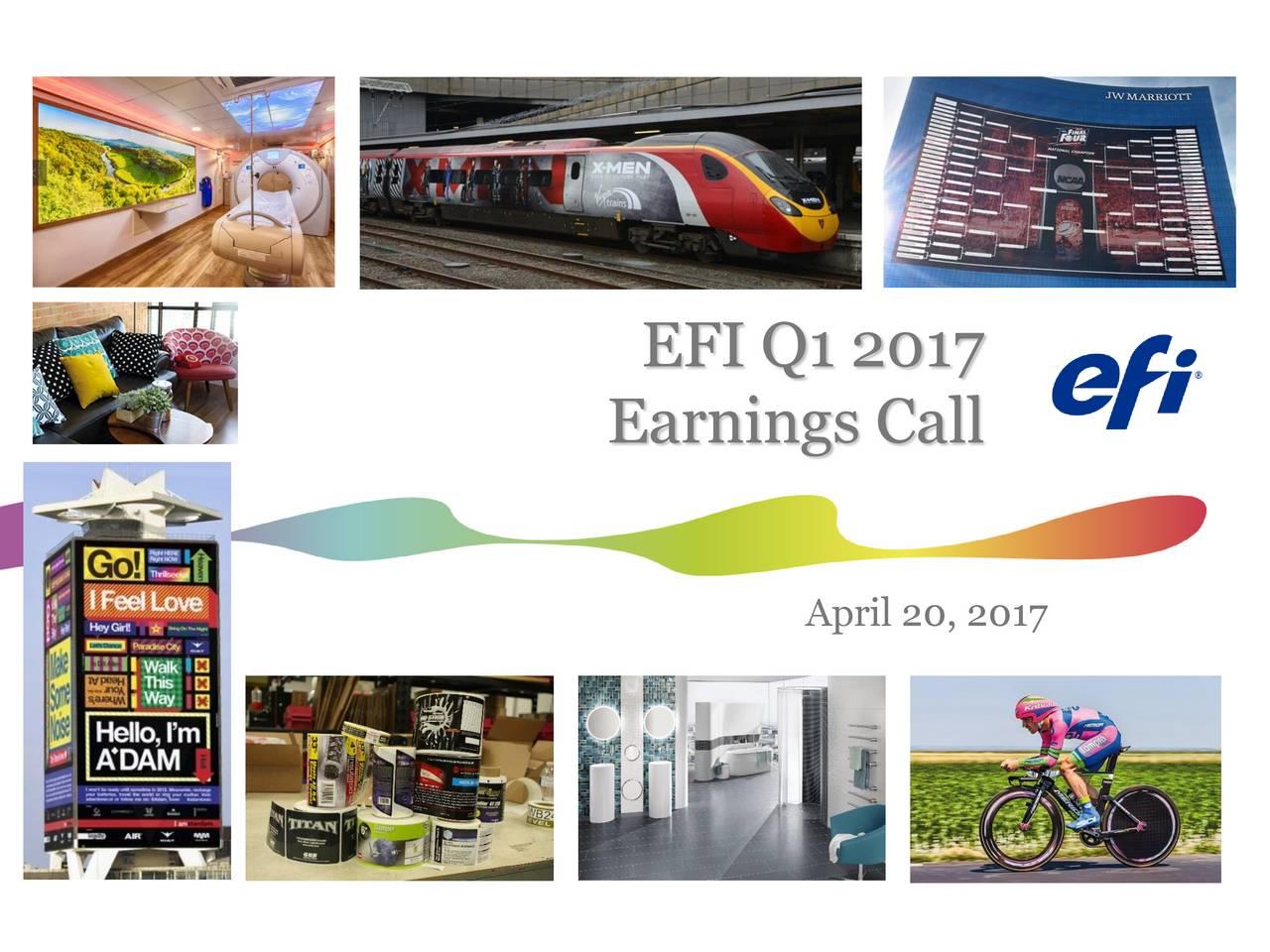Earnings Call April 20, 2017