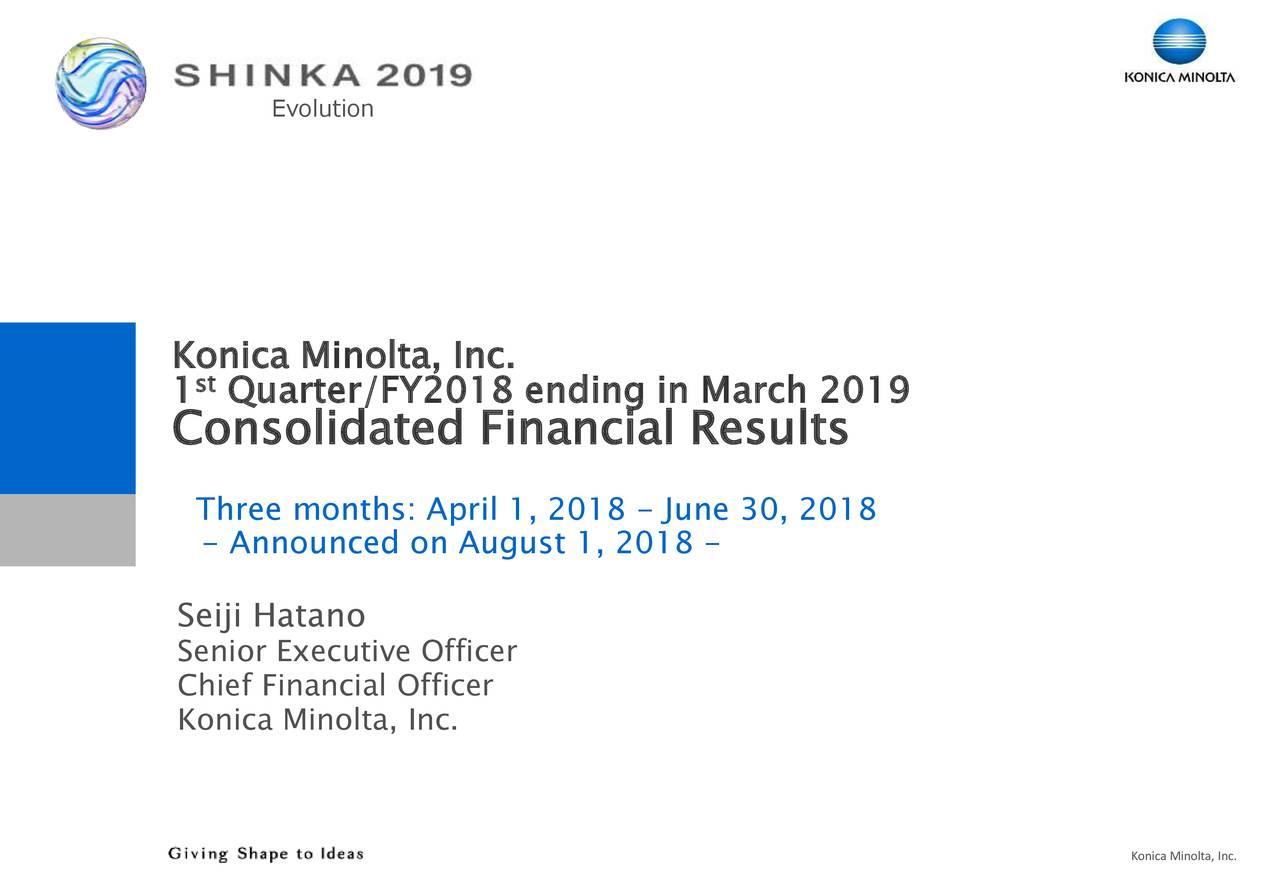 4902 Konica Minoltainc Stock Price Quote And News Fintel
