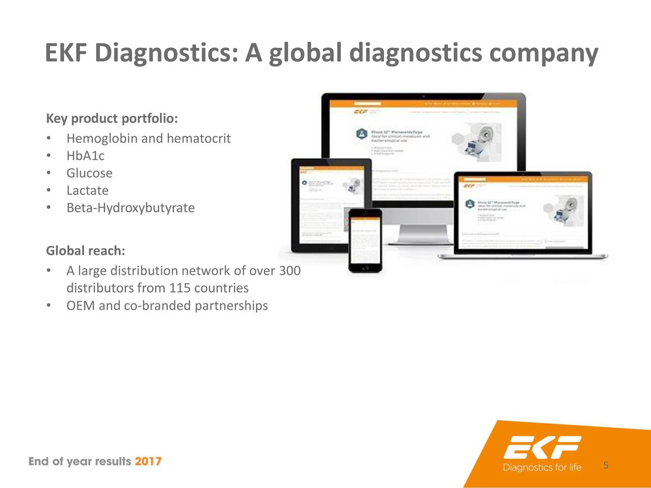 EKF Diagnostics Holdings PLC 2017 Q4 - Results - Earnings Call