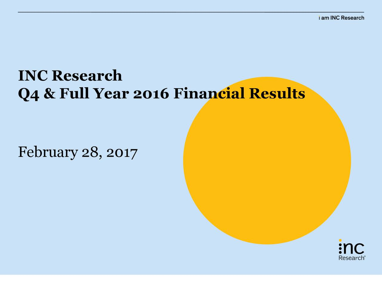 Q4 & Full Year 2016 Financial Results February 28, 2017