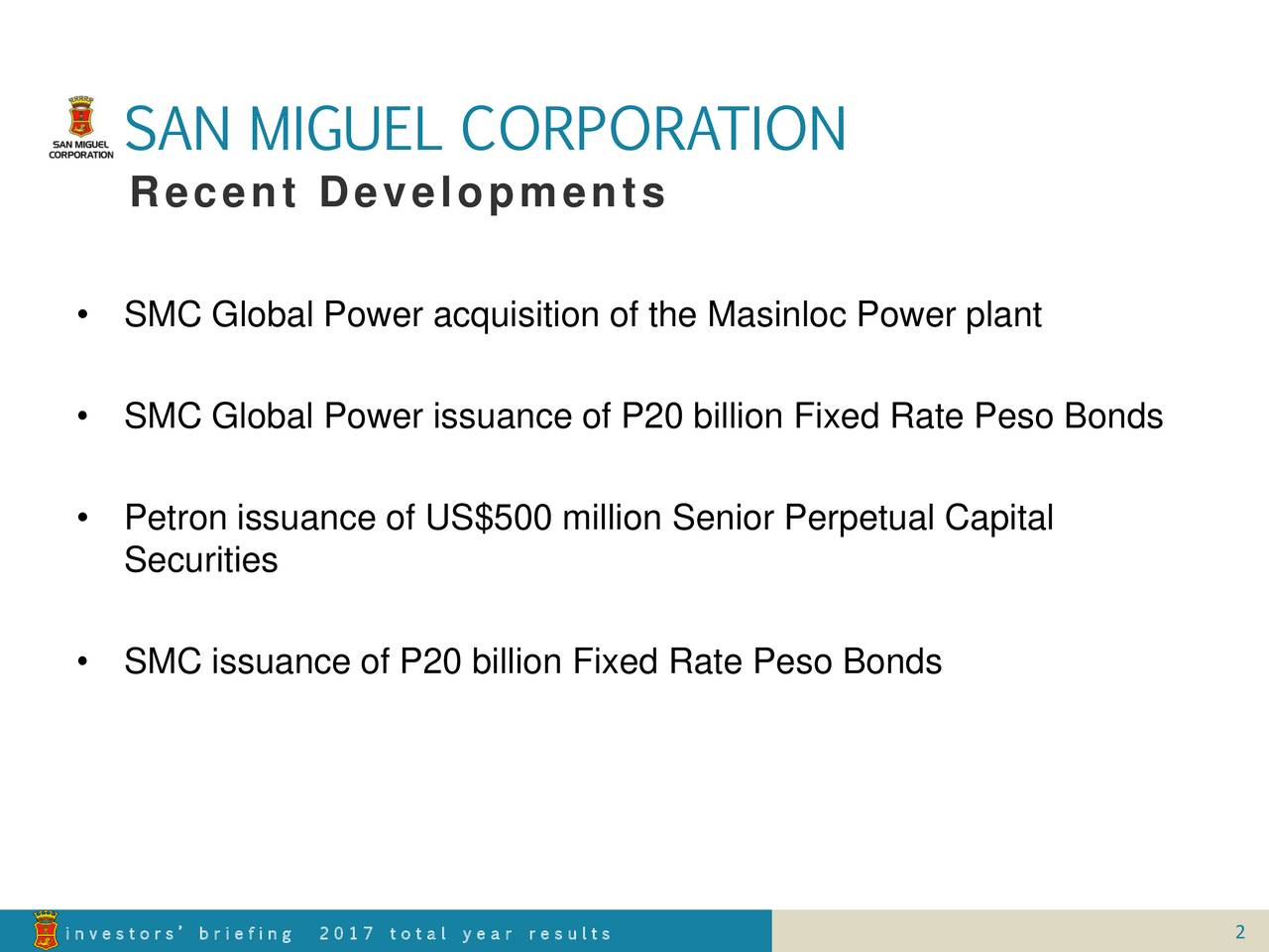 tows analysis of san miguel corporation San miguel case analysis   vision san miguel corporation's vision is to take the lead in realizing commitment to social development in the company's effort to .