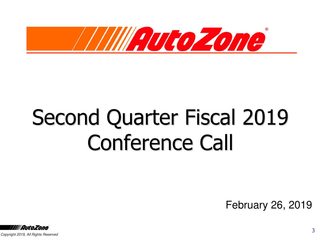 Conference Call February 26, 2019