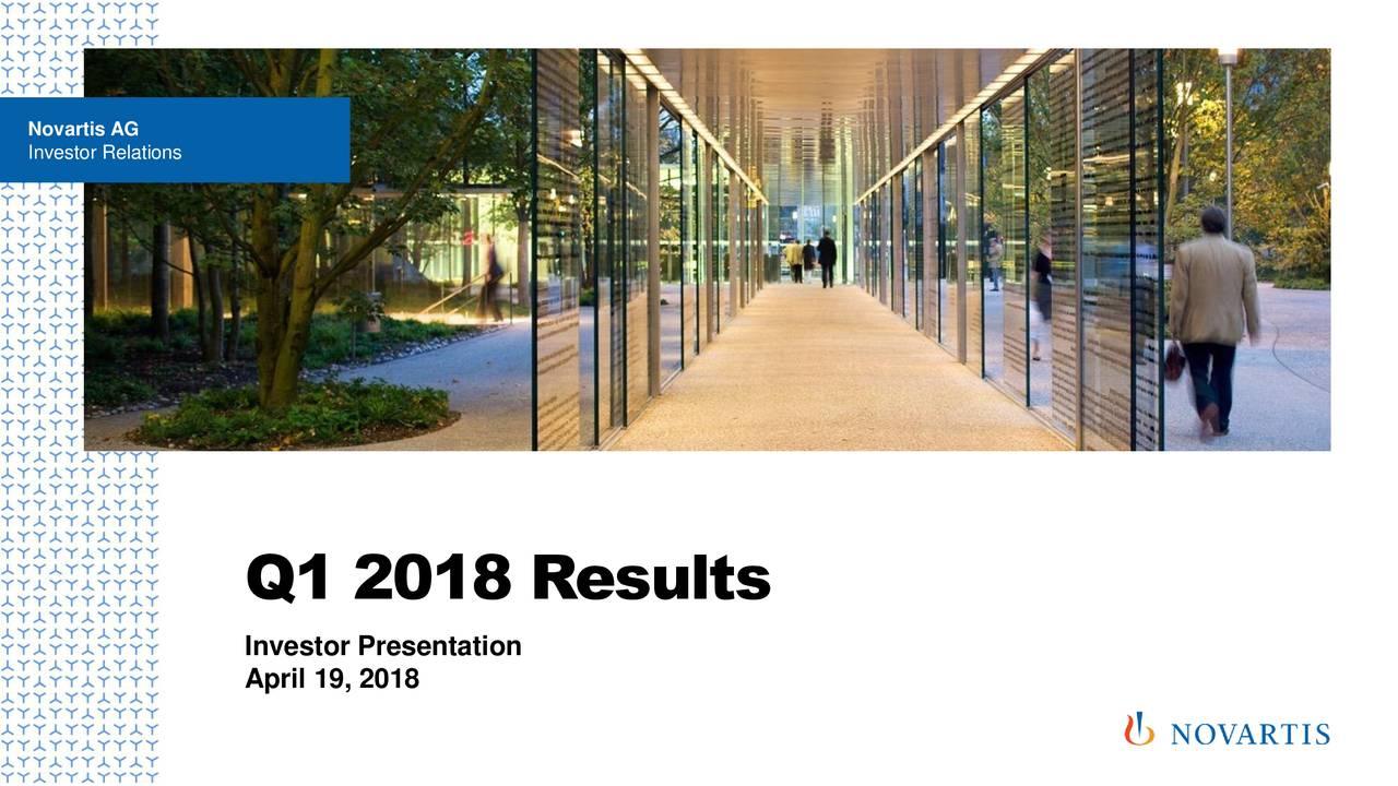 Investor Relations Q1 2018 Results Investor Presentation April 19, 2018
