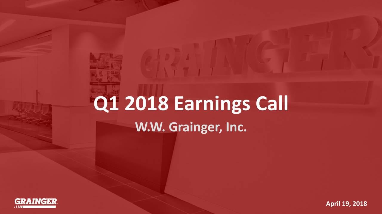 W.W. Grainger, Inc. April 19, 2018