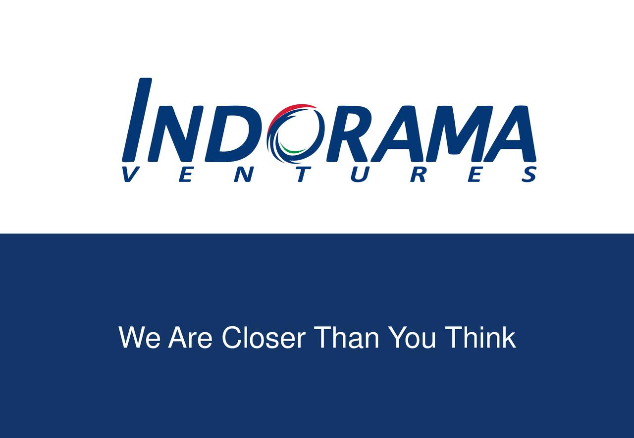 Earnings Disclaimer >> Indorama Ventures Public Company Limited ADR 2016 Q3 - Results - Earnings Call Slides - Indorama ...
