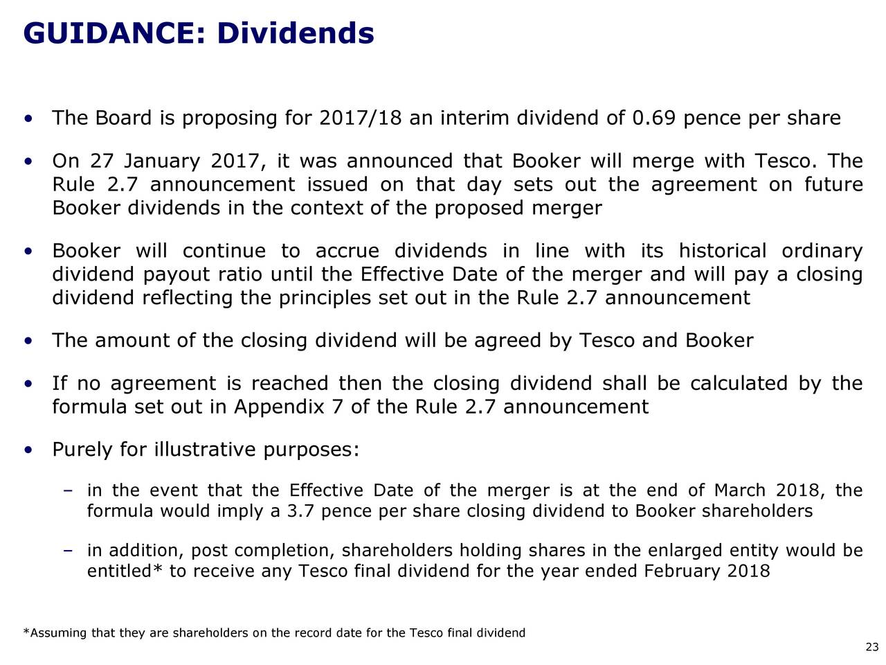 Booker Group Plc Adr 2017 Q2 Results Earnings Call Slides
