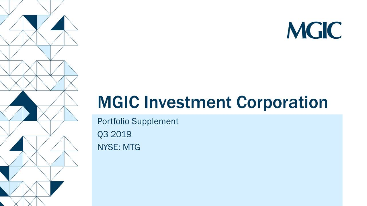 MGIC Investment Corporation 2019 Q3 - Results - Earnings Call Presentation