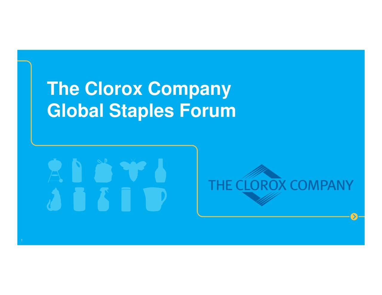 Clorox (CLX) Presents At Goldman Sachs Global Staples Forum