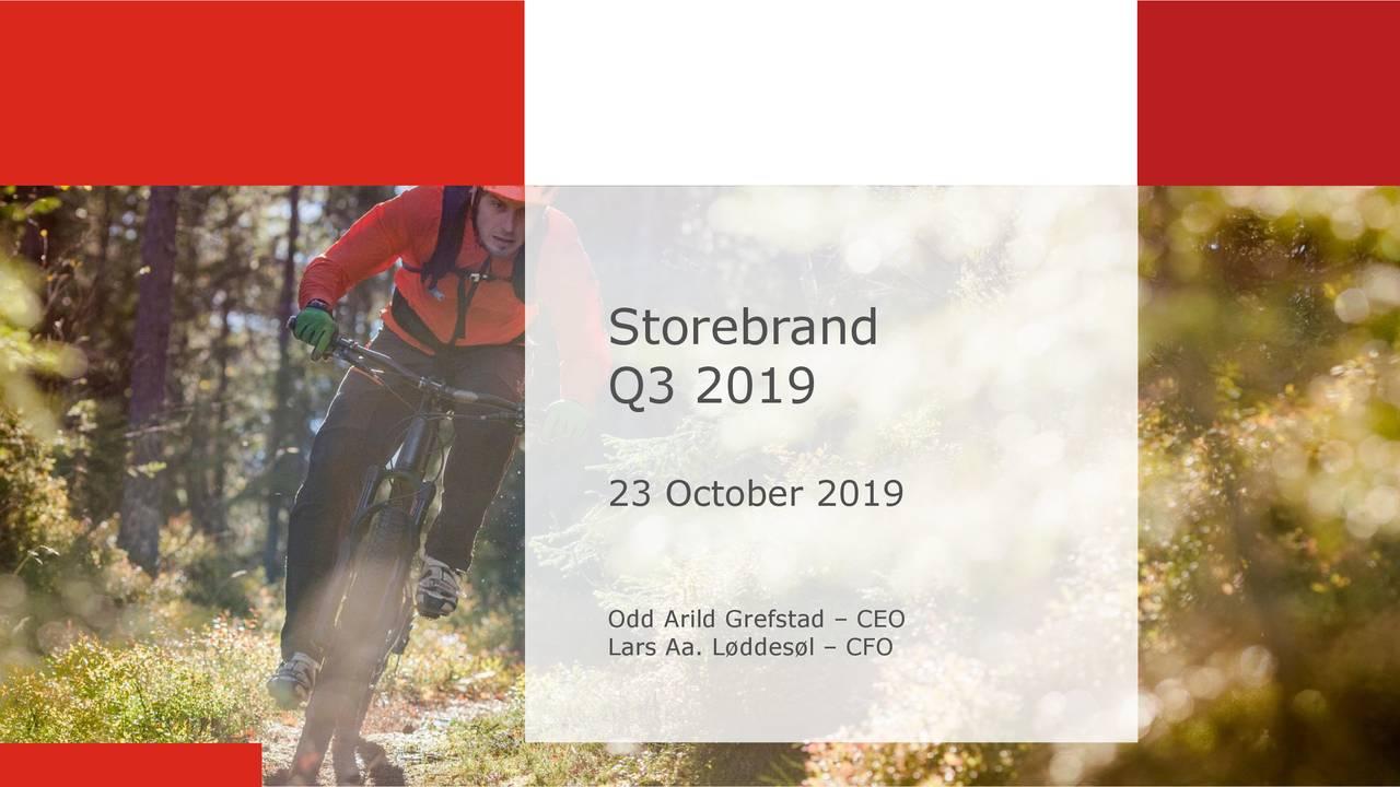 Storebrand ASA 2019 Q3 - Results - Earnings Call Presentation