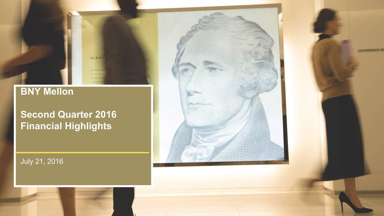 Second Quarter 2016 Financial Highlights July 21, 2016