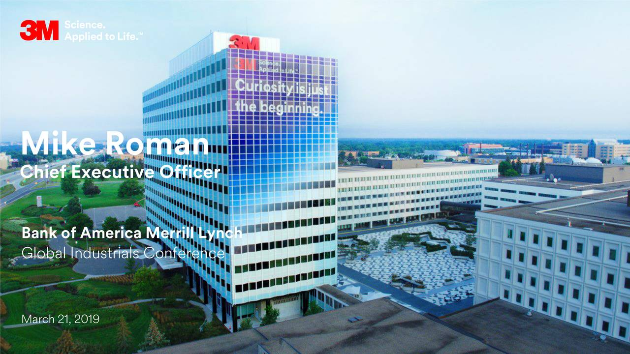 3M Company (MMM) Presents At Bank Of America Merrill Lynch Global Industrials Conference - Slideshow