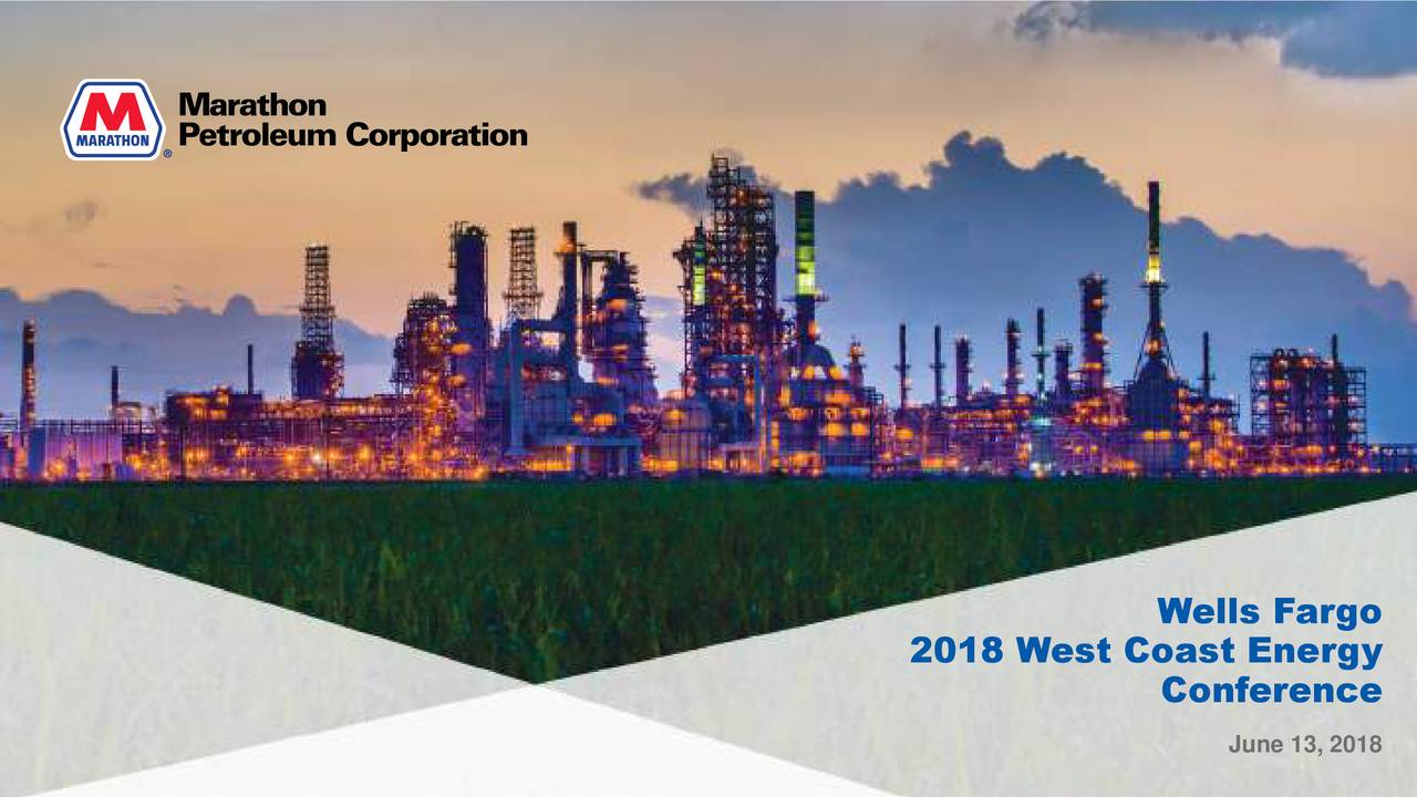 2018 West Coast Energy Conference June 13, 2018