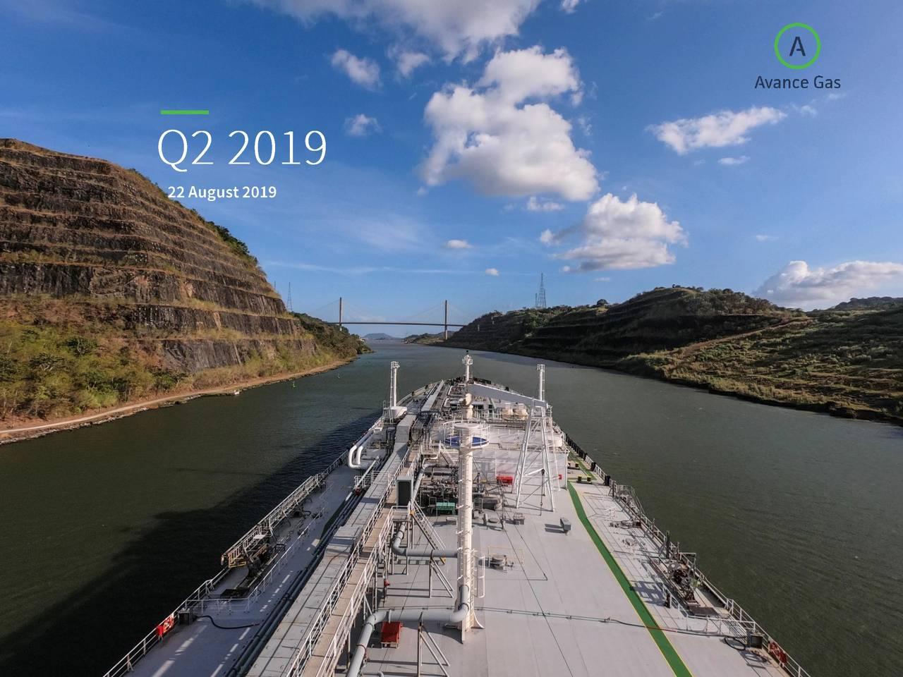 Avance Gas Holding Ltd 2019 Q2 - Results - Earnings Call Slides