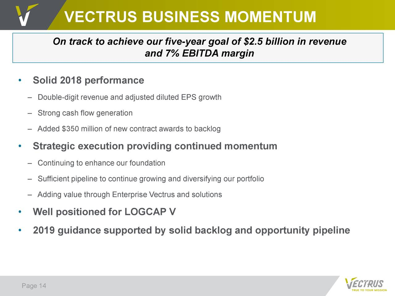 Vectrus 2018 Q4 - Results - Earnings Call Slides - Vectrus, Inc