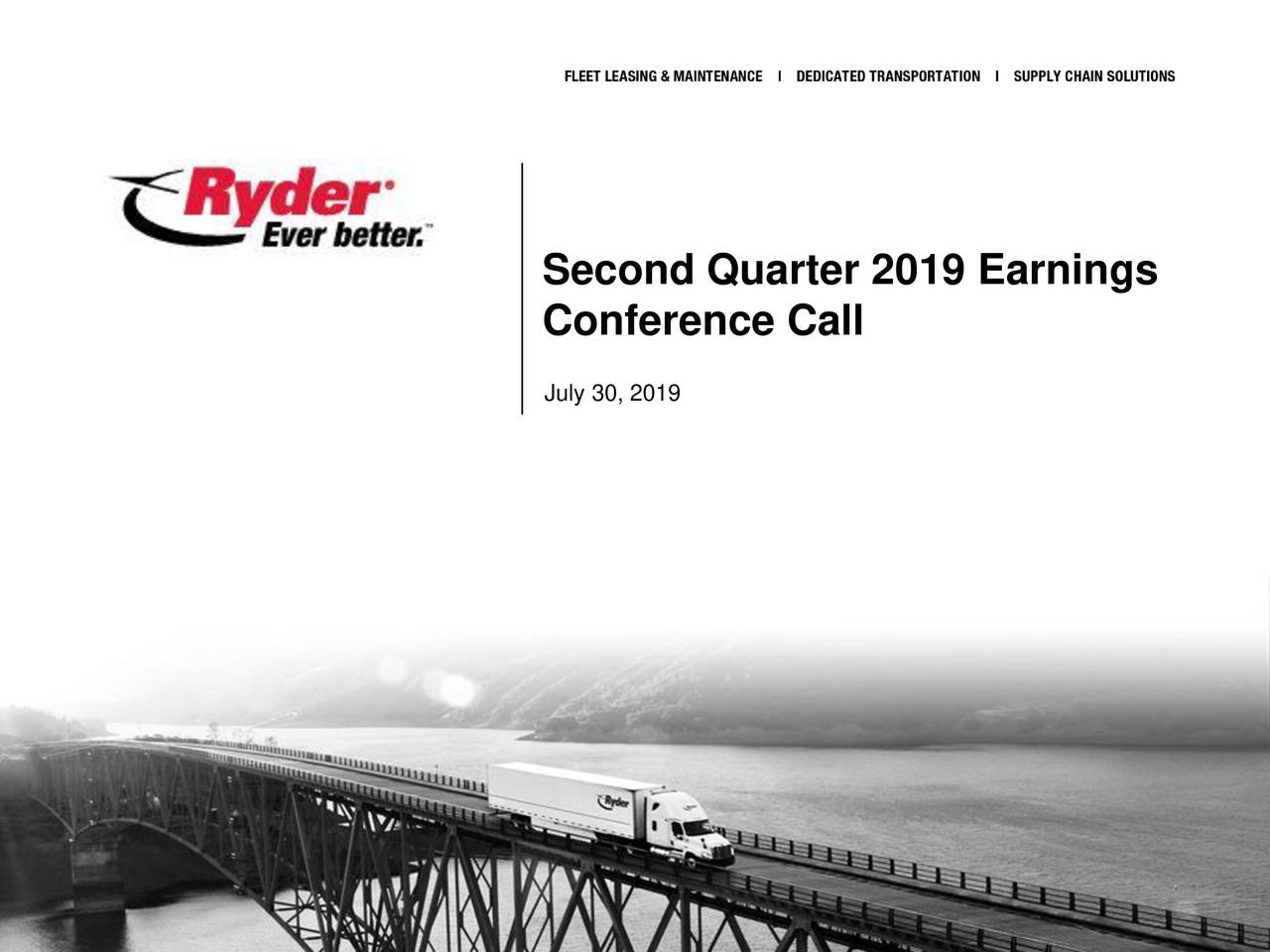 Second Quarter 2019 Earnings
