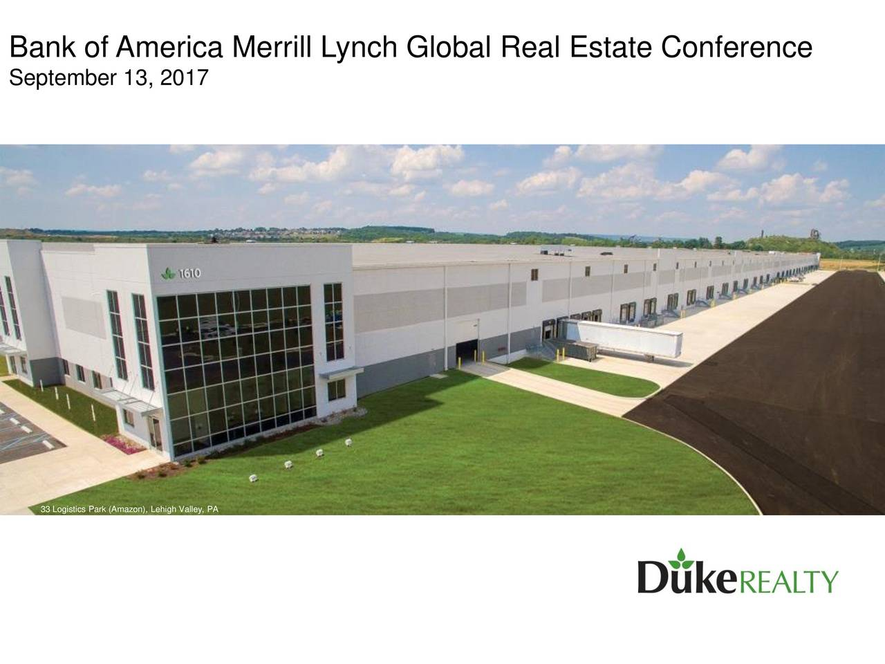 bank of america merrill lynch global real estate conference 2017
