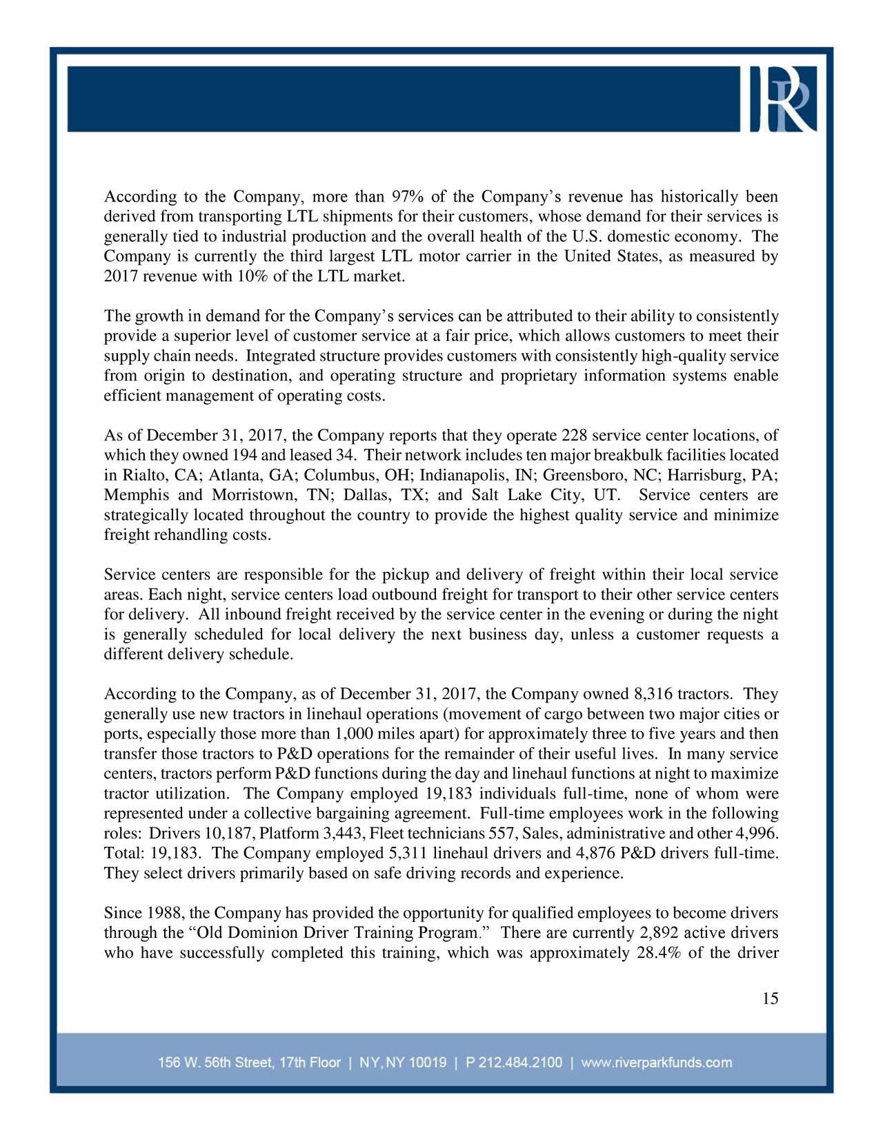 RiverPark Wedgewood Fund Q3 2018 Investor Letter ...