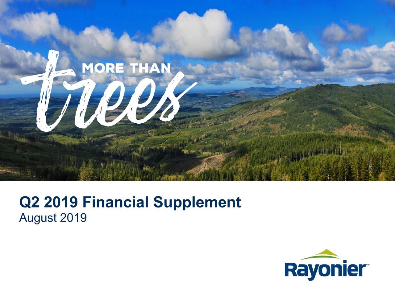 Q2 2019 Financial Supplement