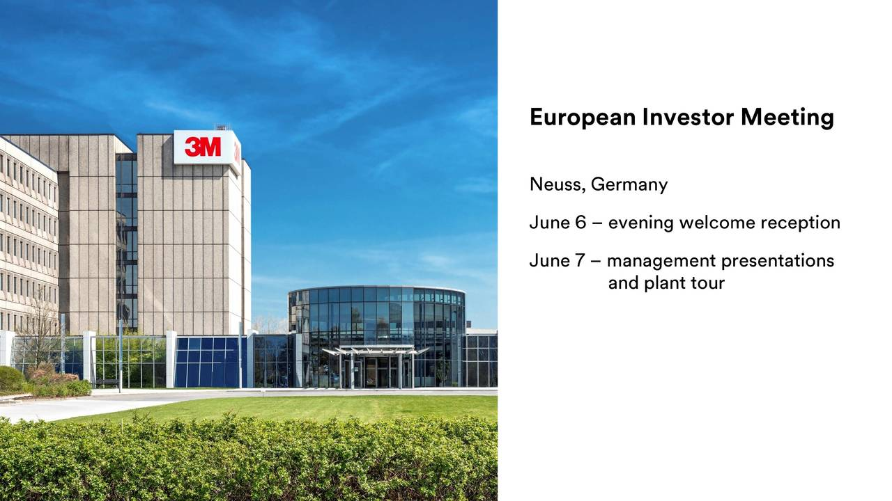 European Investor Meeting Neuss, Germany June 6  evening welcome reception June 7  management presentations and plant tour 25pril 2017. All Rights Reserved. 3