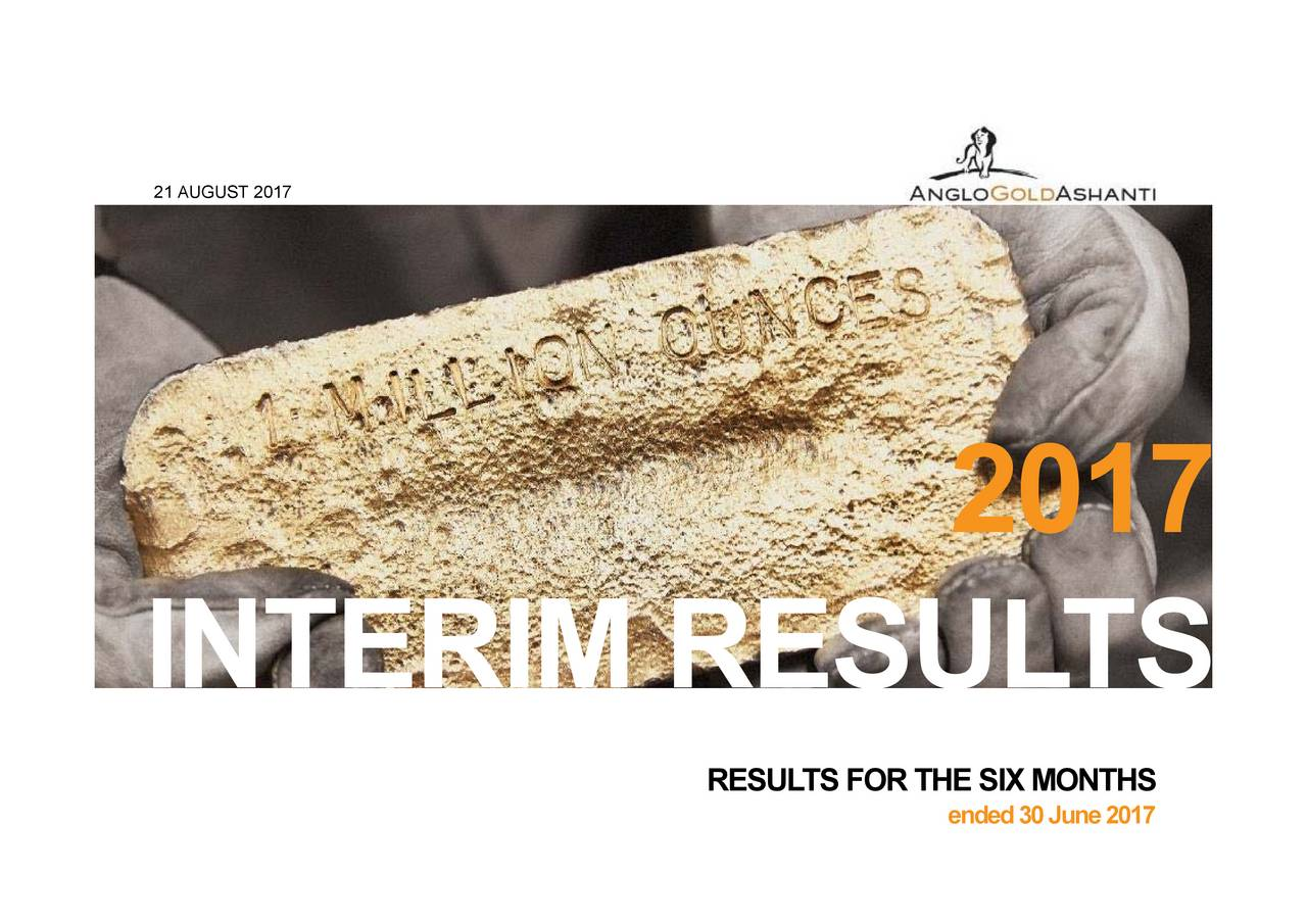RESULTS FOR THE SIX MONTHS 21 AUGUST 20INTERIM RESUL