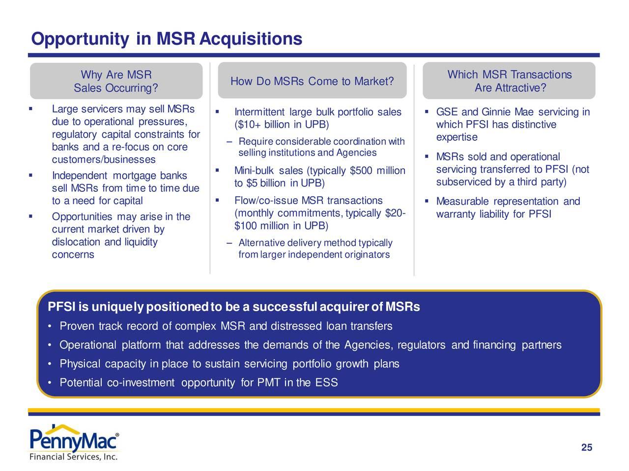 Oportunidad en adquisiciones de MSRA