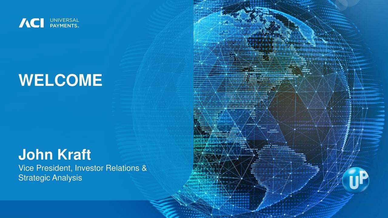 John Kraft Vice President, Investor Relations & Strategic Analysis