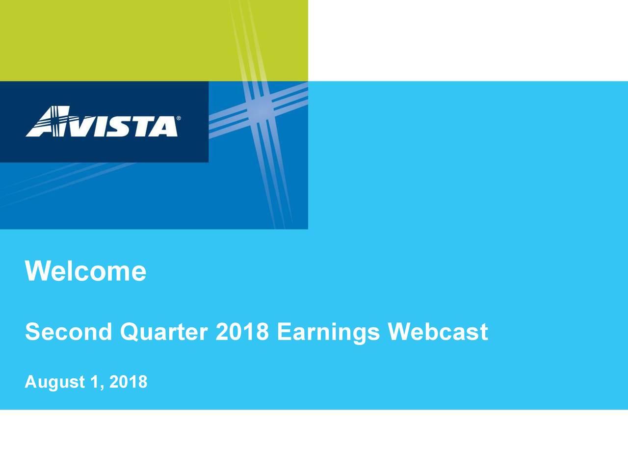 Second Quarter 2018 Earnings Webcast August 1, 2018
